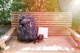 accessories backpack bench book